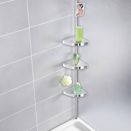 etagere d angle pour douche inox