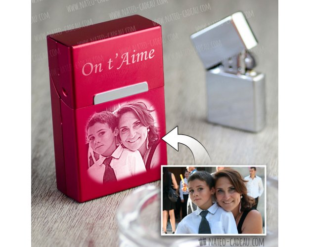 etui cigarette personnalisé avec photo