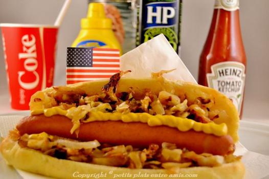 hot dog americain