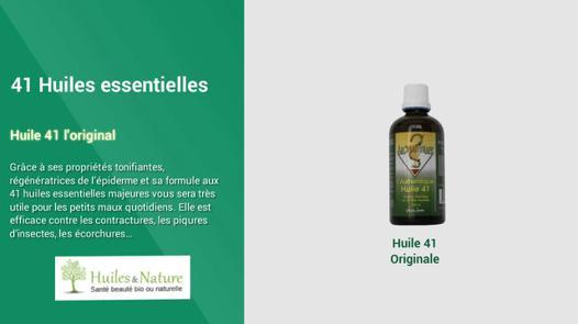 huile 41 utilisation