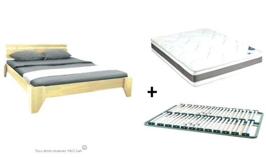 lit 2 personnes avec sommier et matelas pas cher