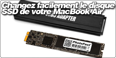 macbook air disque dur
