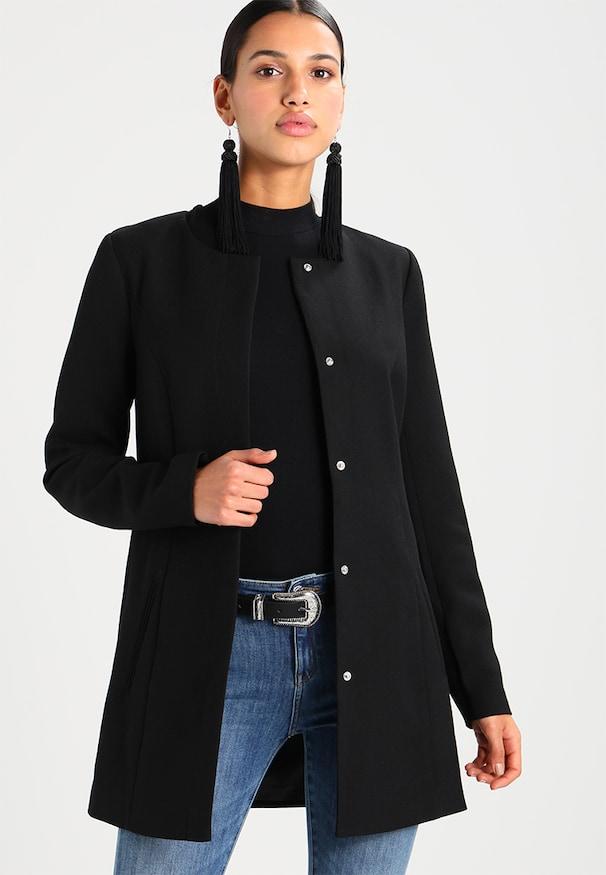 manteau noir classe femme