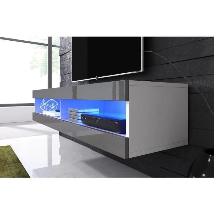 meuble tv suspendu led