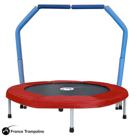 mini trampoline avec barre de maintien