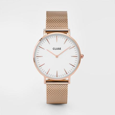 montre cluse or rose