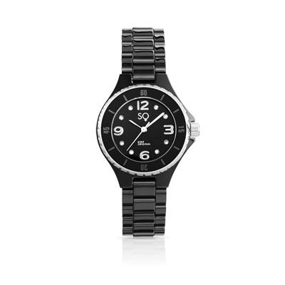 montre femme bracelet acier noir