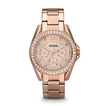 montre fossil doré