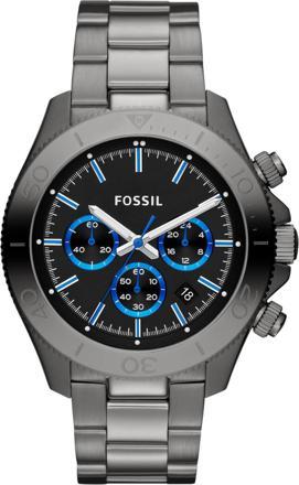 montre fossil homme cadran bleu