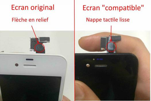 nappe tactile iphone 4