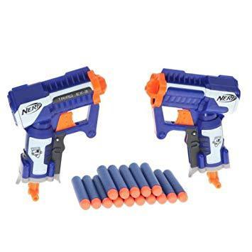 nerf 2 pistolets