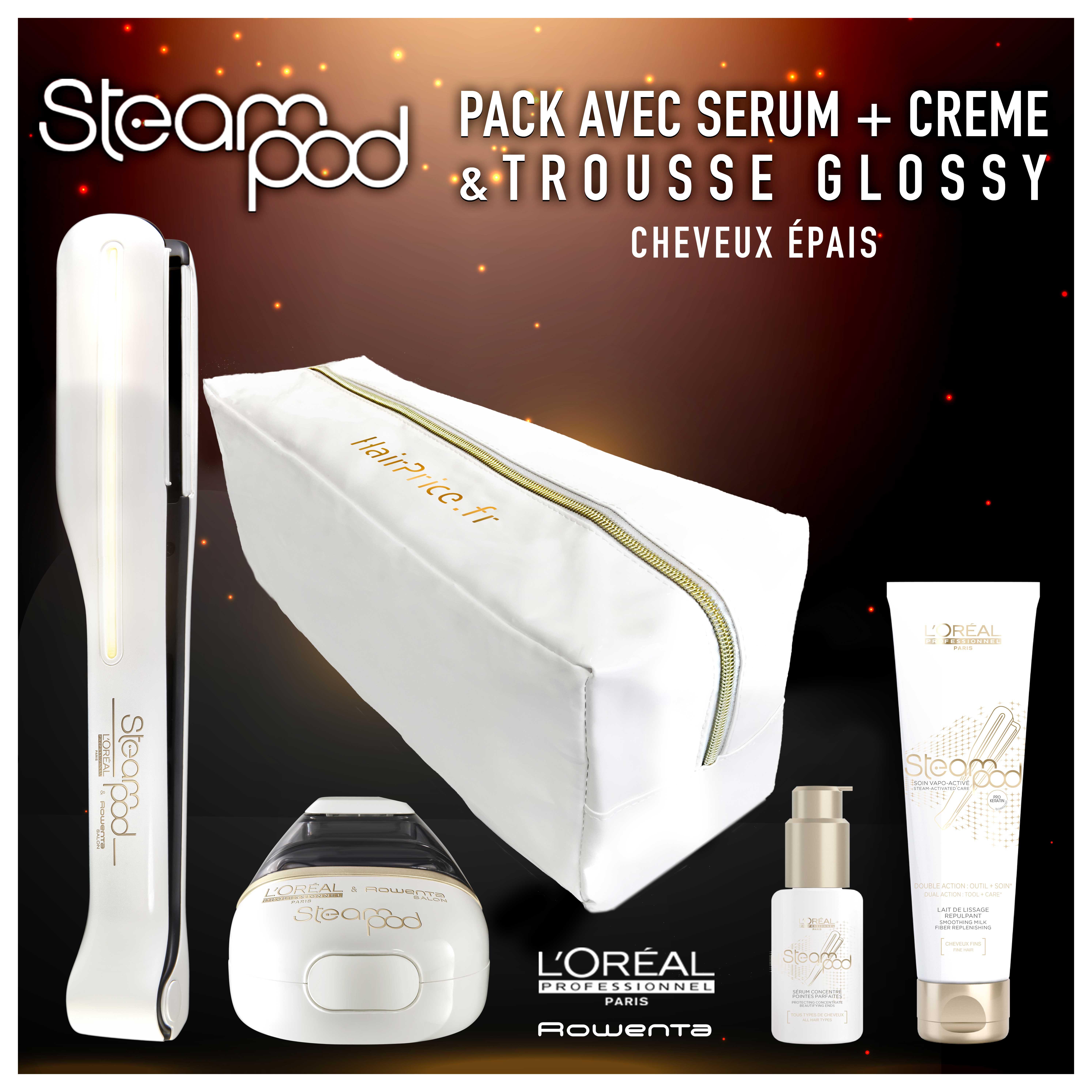 pack steampod 2.0 cheveux epais