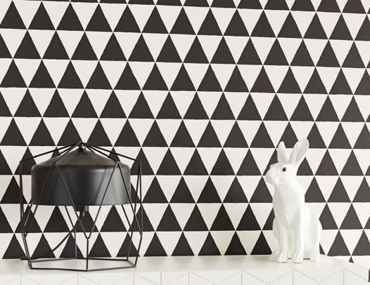 papier peint blanc et noir