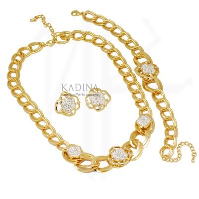 parure bijoux plaqué or