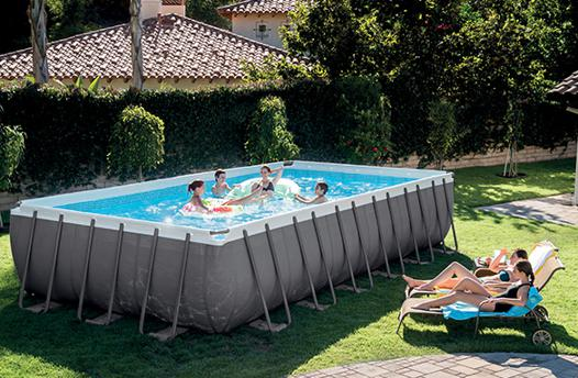 piscine hors sol tubulaire rectangulaire intex