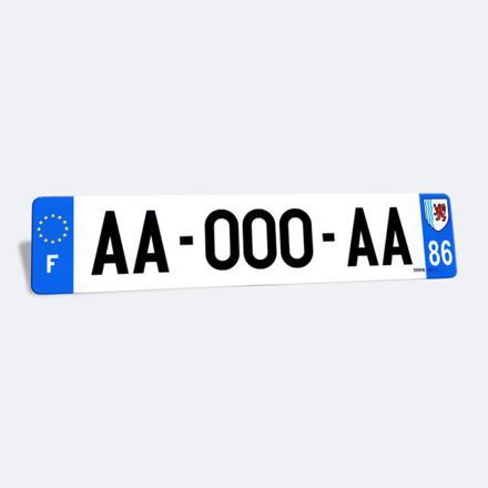 plaque immatriculation auto