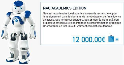 prix d un robot