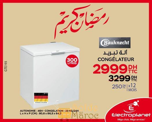 promotion congelateur