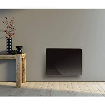 radiateur en verre noir