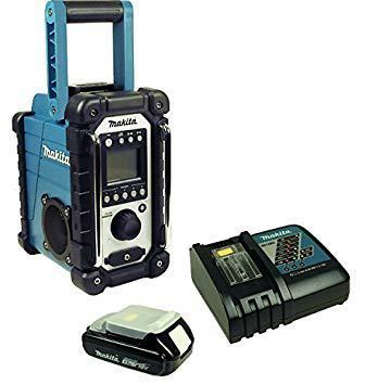 radio de chantier avec batterie