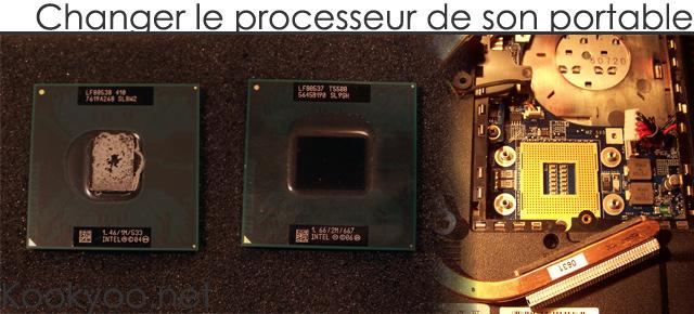 remplacer processeur pc portable