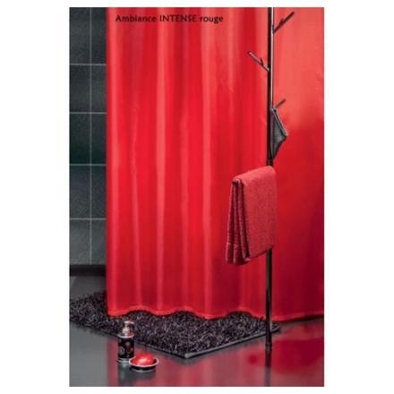 rideau douche rouge