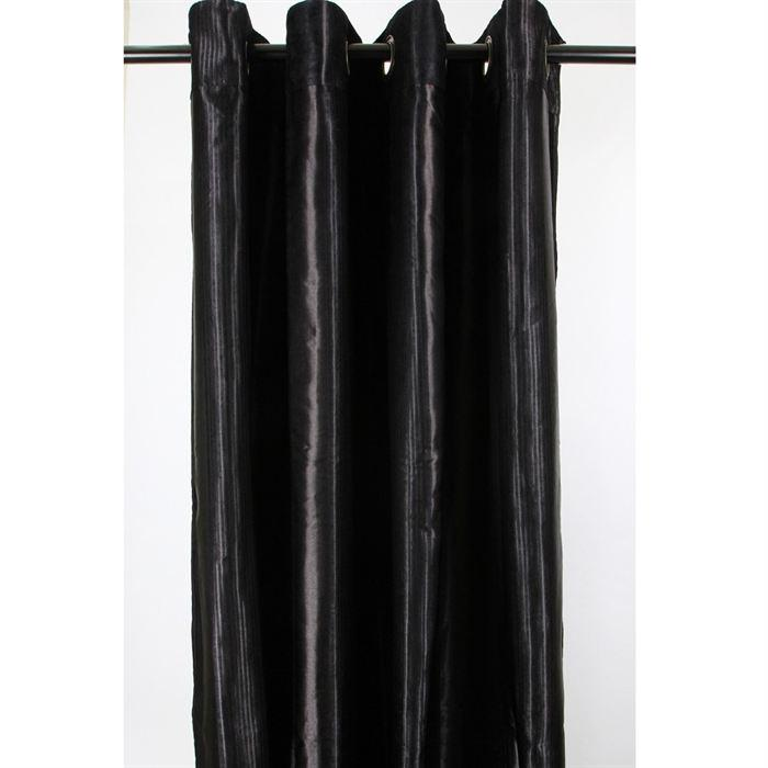 rideau noir pas cher