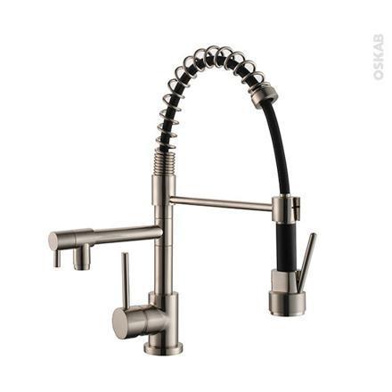 robinet mitigeur cuisine avec douchette