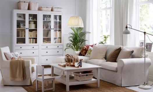 salon ikea blanc