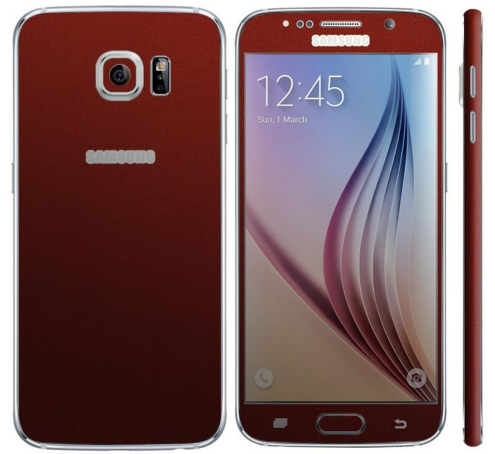 samsung galaxy s6 rouge