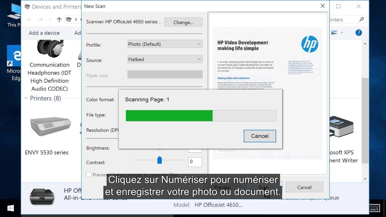 scanner un document avec une imprimante hp