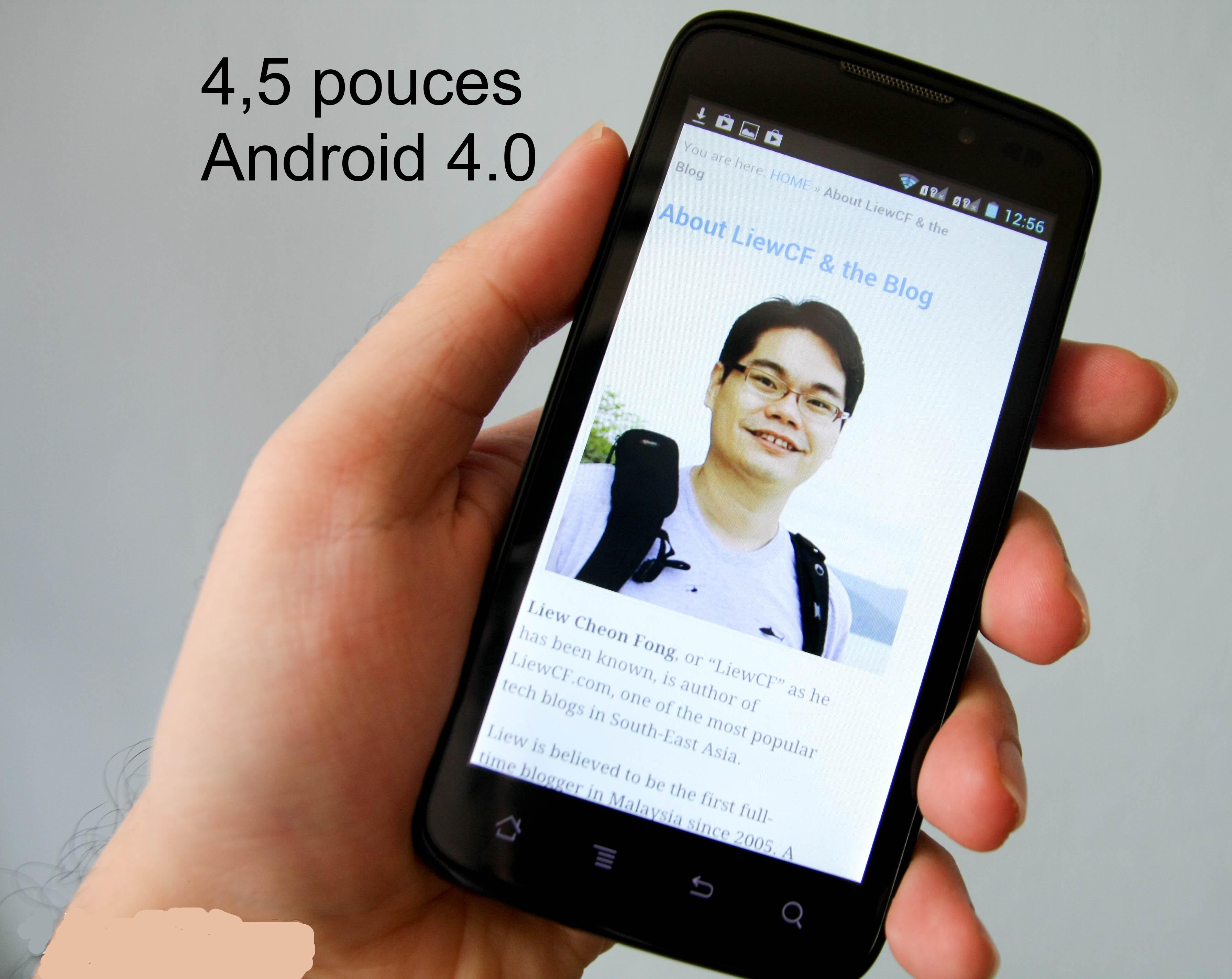 smartphones 4 5 pouces