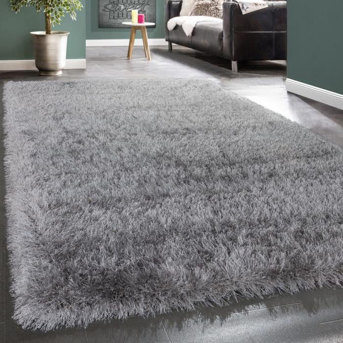 tapis gris shaggy
