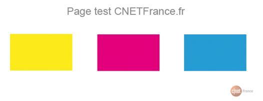 test couleur imprimante