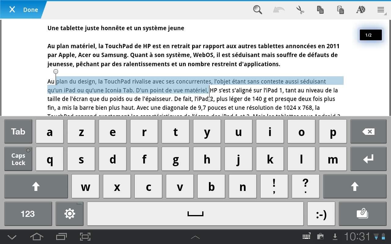 traitement de texte android